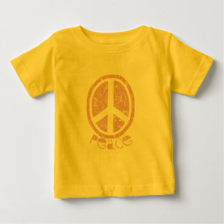 Girly Pink Peace Sign Baby T-Shirt
