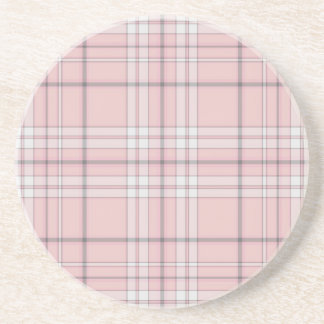Girly Pink Plaid Coasters