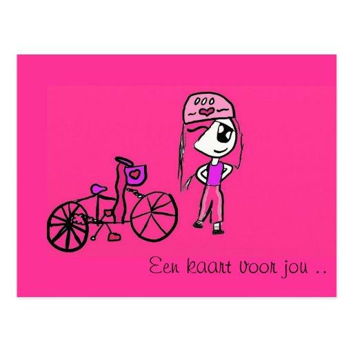 Girly Pink Postcard
