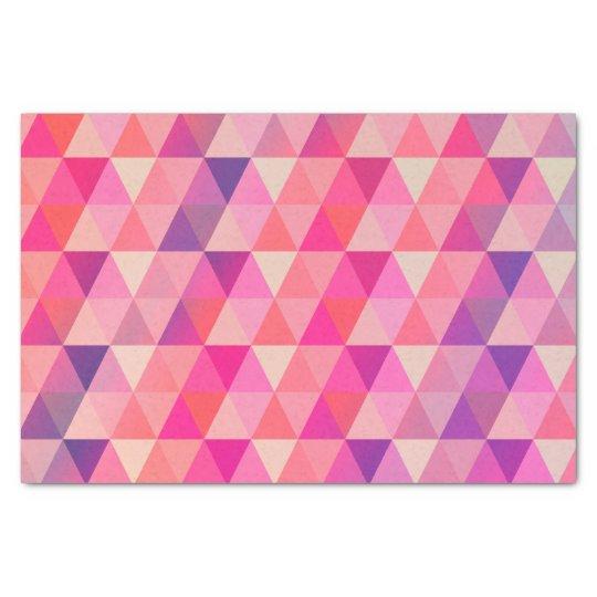 Girly Pink Purple Geometric Pattern Tissue Paper