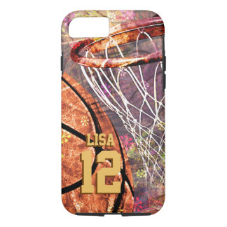 girly pink purple women's basketball iPhone 8/7 case