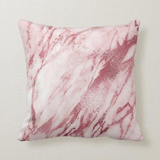 Girly Pink Rose Brush Powder Glam Marble White