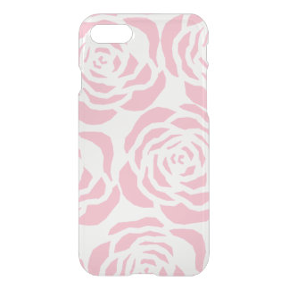 Girly Pink Roses Clear iPhone 7 Deflector Case