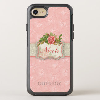 Girly Pink Roses OtterBox Symmetry iPhone 8/7 Case