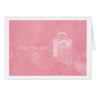 Girly Pink Shopping Spree Money Enclosed Note Card