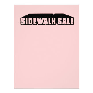 Girly Pink Sidewalk Sale Graphic Sale Font Retro Personalized Flyer