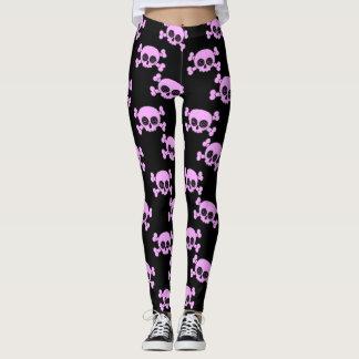 Girly Pink Skulls Leggings
