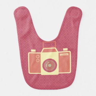 Girly pink vintage camera bib