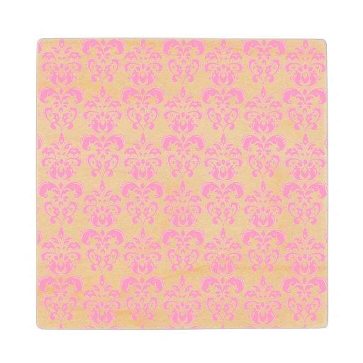 Girly Pink Vintage Damask Pattern 2
