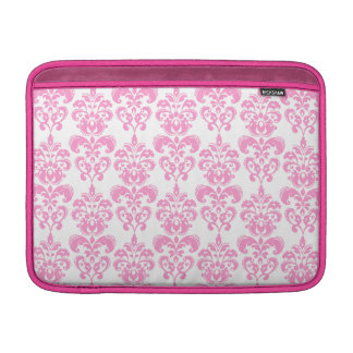 Girly Pink Vintage Damask Pattern 2 Sleeve For MacBook Air