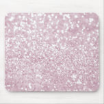 Girly Pink White Abstract Glitter Photo Print