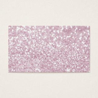Girly Pink White Abstract Glitter Photo Print Business Card