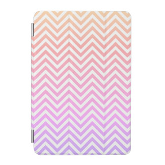 Girly Pink & White Chevron iPad Smart Cover