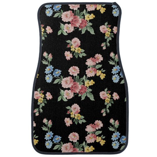 Girly Pink, Yellow and Blue Floral Customisable Car