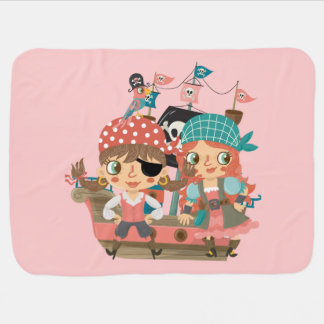 Girly Pirates Baby Blanket