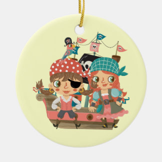 Girly Pirates Christmas Ornament