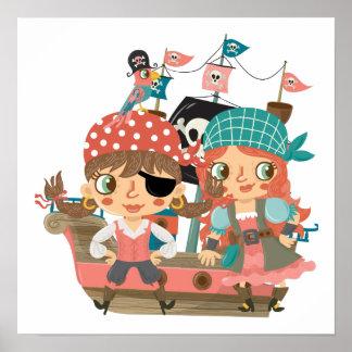 Girly Pirates Poster