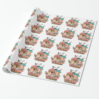 Girly Pirates Wrapping Paper