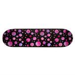 Girly Polka Dot Skateboard