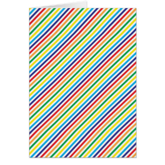 Girly Pretty Colorful Rainbow Diagonal Stripes Greeting Card