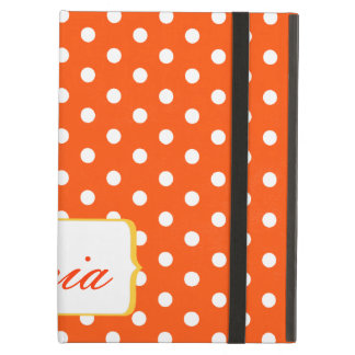 Girly Pretty Red and White Polkadots Case For iPad Air