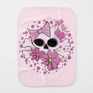Girly Punk Skull Burp Cloth
