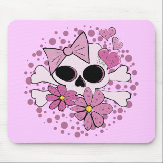 Girly Punk Skull Mouse Pads
