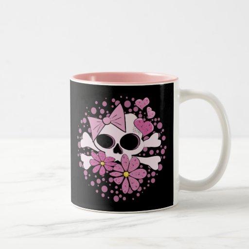 Girly Punk Skull Coffee Mugs