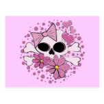 Girly Punk Skull Postcards