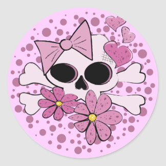 Girly Punk Skull Stickers
