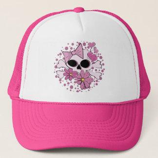 Girly Punk Skull Trucker Hat