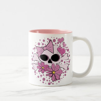 Girly Punk Skull Two-Tone Coffee Mug