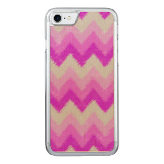 Girly Purple and White Bohemian Chevron Pattern Carved iPhone 8/7 Case