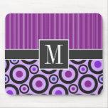 Girly Purple Circles & Dots Mouse Mat