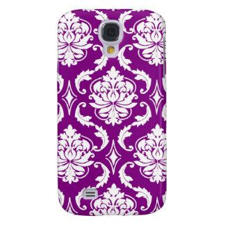 Girly Purple Damask Pattern