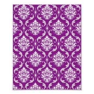 Girly Purple Damask Pattern Photo Art