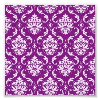 Girly Purple Damask Pattern Art Photo