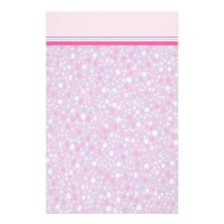 Girly Purple Floral Stationery with Letterhead