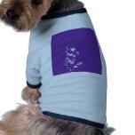 Girly Purple Flower Doggie Tshirt