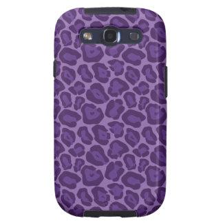 Girly Purple Leopard Pattern Galaxy SIII Cover
