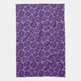Girly Purple Leopard Pattern Kitchen Towel