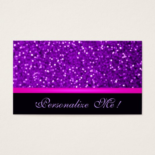 Girly Purple Modern Sparkle Pink Glitter Elegant Business