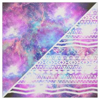 Purple and white fabric for Nebula fabric uk