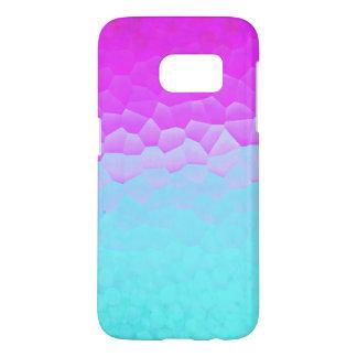 Girly Purple Turquoise Ombre Mosaic Bokeh Pattern