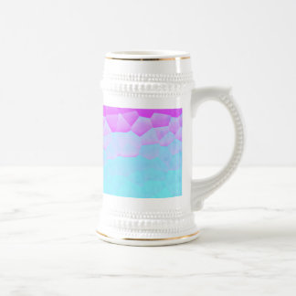 Girly Purple Turquoise Ombre Mosaic Bokeh Pattern Beer Stein