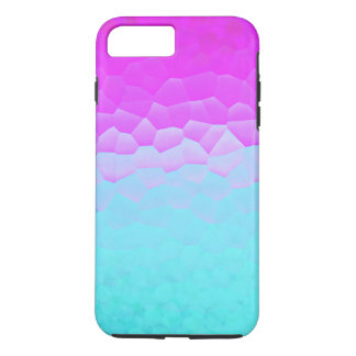 Girly Purple Turquoise Ombre Mosaic Bokeh Pattern iPhone 7 Plus Case