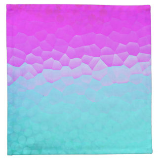 Girly Purple Turquoise Ombre Mosaic Bokeh Pattern Napkin