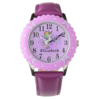 Girly Purple Unicorn and Her Name Watch