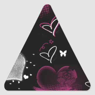 Girly Queen of hearts Triangle Sticker
