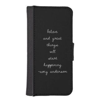 Girly Quotes iphone5 Wallet Case